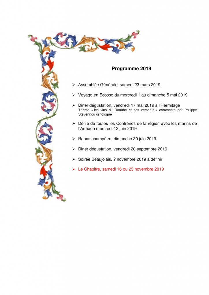 Programme 2019 -1
